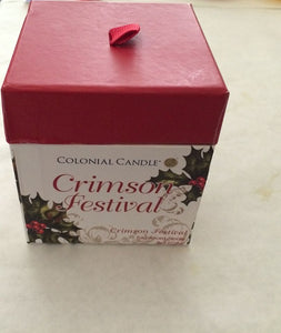 Colonial  Candle Crimson Festival Boxed Candle