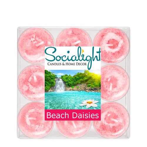 Beach Daisies Scented Tealight Candles