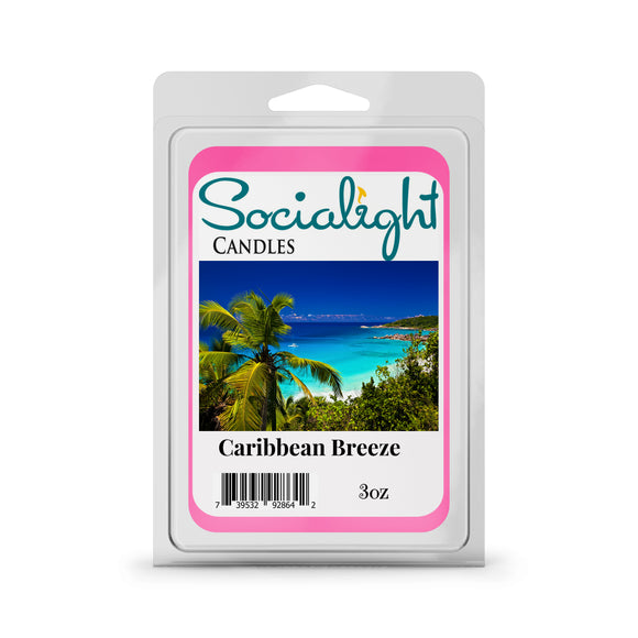 Socialight Candles - Caribbean Breeze Scented Wax Cubes / Melts