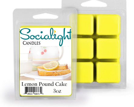 Socialight Candles - Lemon Pound Cake Scented Wax Cubes/Melts