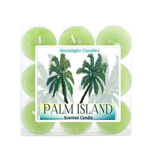 Socialight Candles - Palm Island Scented Tea-Light Candles
