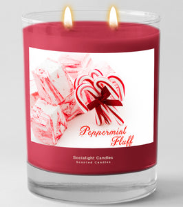 Socialight Candles - Peppermint Fluff 11 oz Container Candle