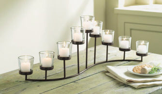 TAG Turning Leaves S-Shaped Votive Candle Holder