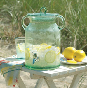 TAG 28.5-Cup Bubble Glass Drink Dispenser, Green