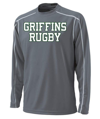 Washington U Griffins L/S Training Tee - Ruggers Rugby Supply