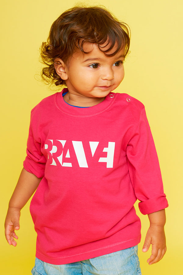 Brave Fuchsia Long Sleeve Tee
