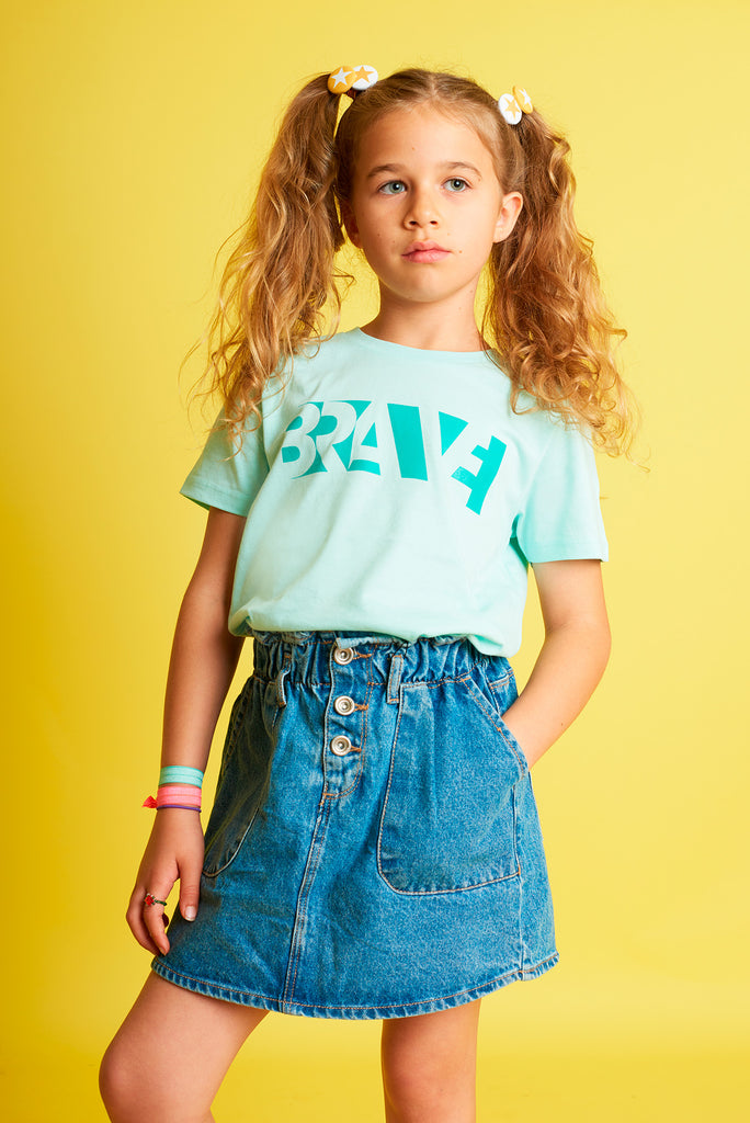 Brave Caribbean Blue Kids T-shirt
