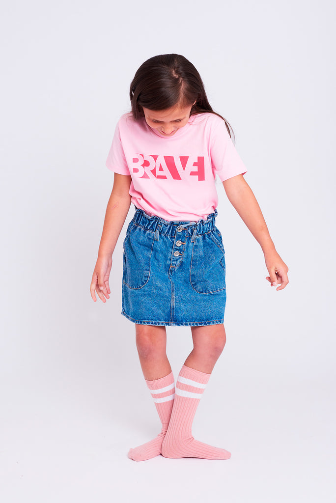 Brave Cotton Pink Kids T-shirt