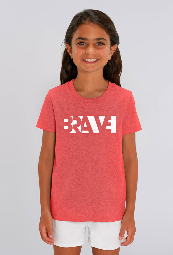 Brave Heather Red Kids T-shirt