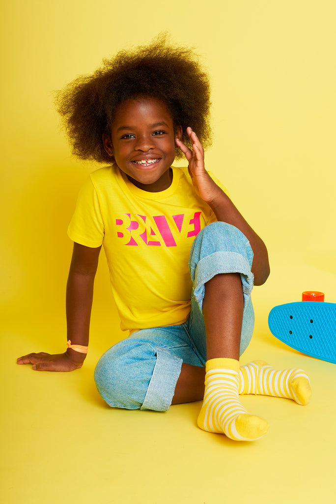 Brave Golden Yellow Kids T-shirt