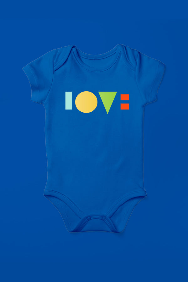 Love Royal Blue Babygrow (Short Sleeve)