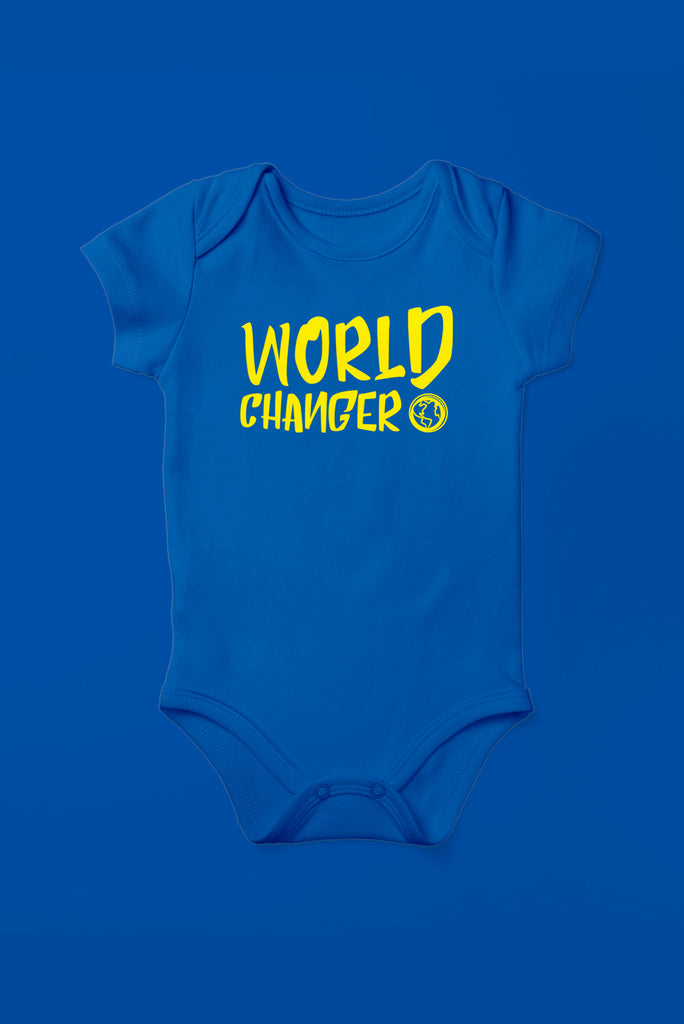 World Changer Royal Blue Babygrow (Short Sleeve)