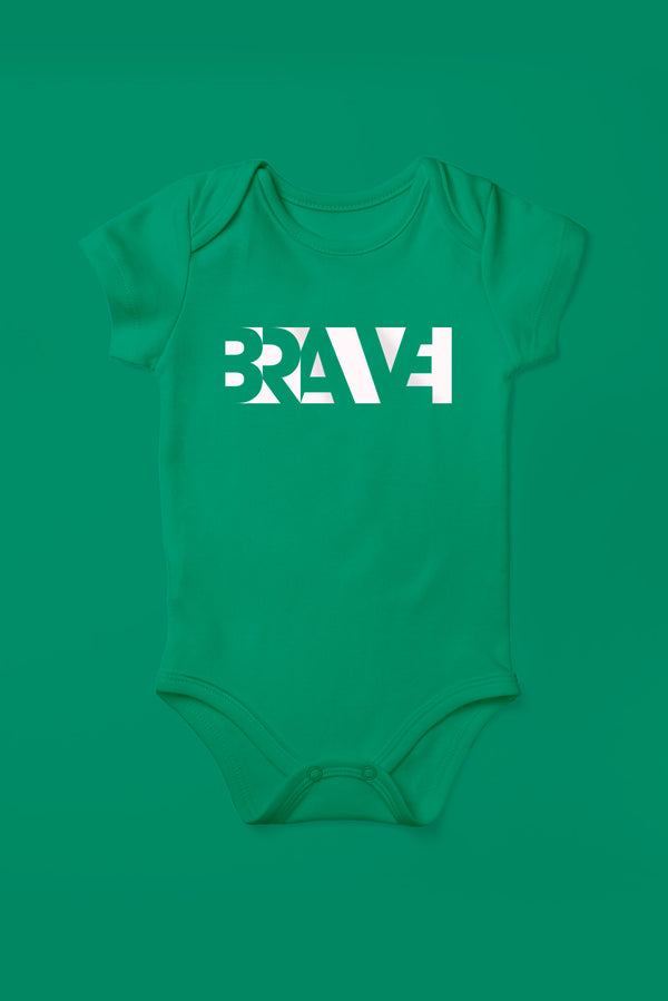 Brave Kelly Green Babygrow (Short Sleeve)