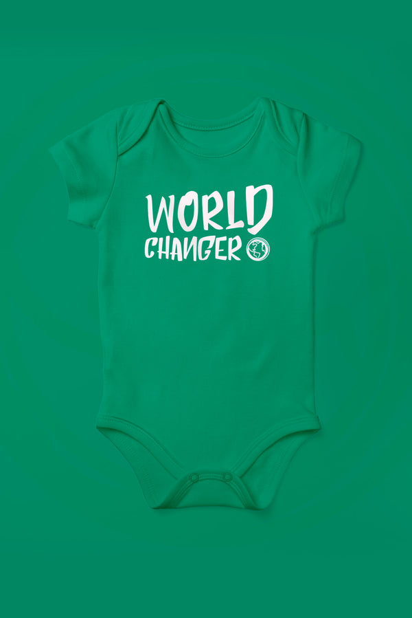 World Changer Kelly Green Babygrow (Short Sleeve)