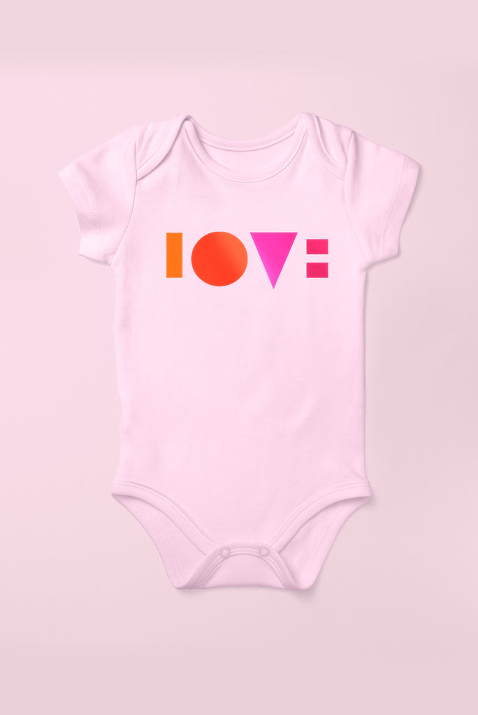 Love Cotton Pink Babygrow (Short Sleeve)