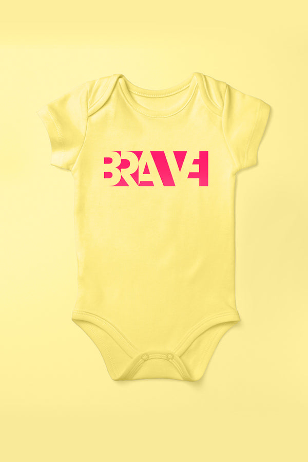 Brave Sunflower Yellow Babygrow (Short Sleeve)