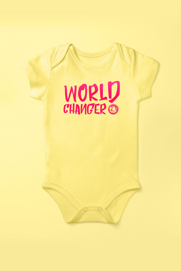 World Changer Sunflower Yellow Babygrow (Short Sleeve)