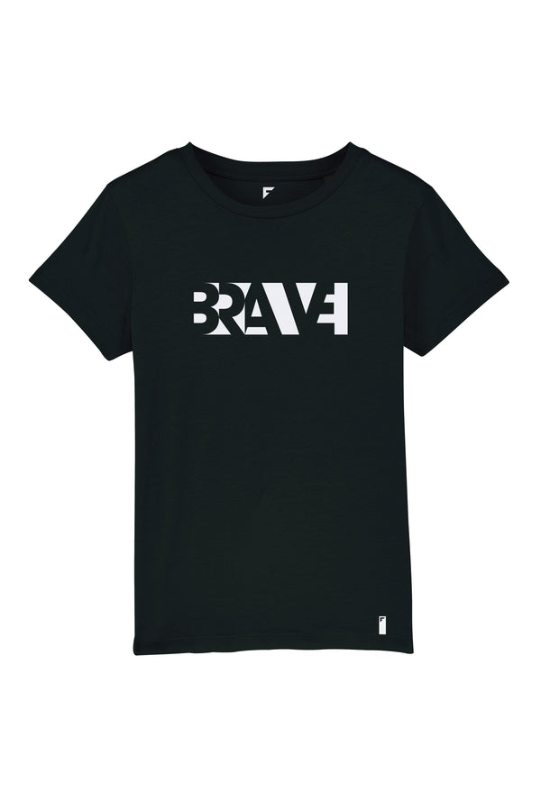 Brave Unisex Crew Neck T-Shirt (Black)