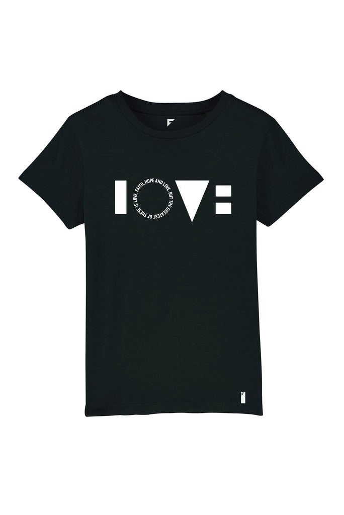 Love Unisex Crew Neck T-Shirt (Black)