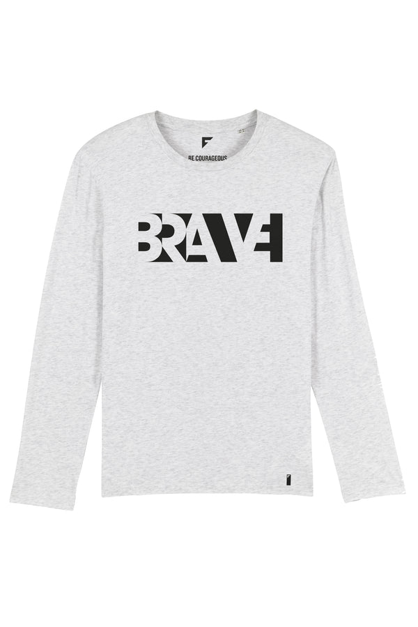 Brave Unisex Long-Sleeve T-Shirt (Heather Ash)