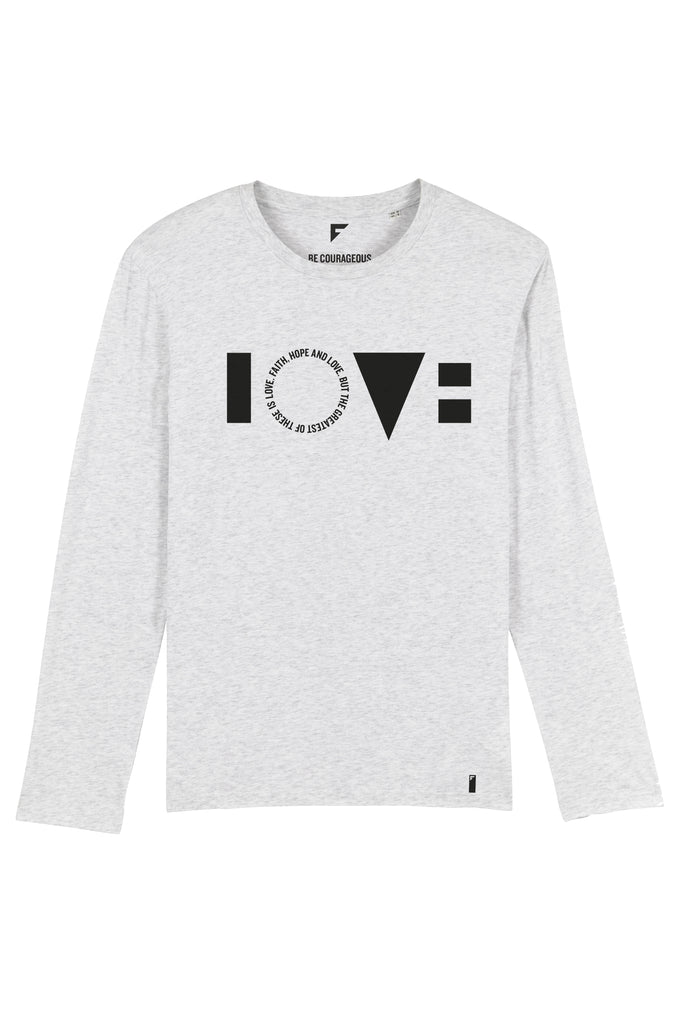 Love Unisex Long-Sleeve T-Shirt (Heather Ash)