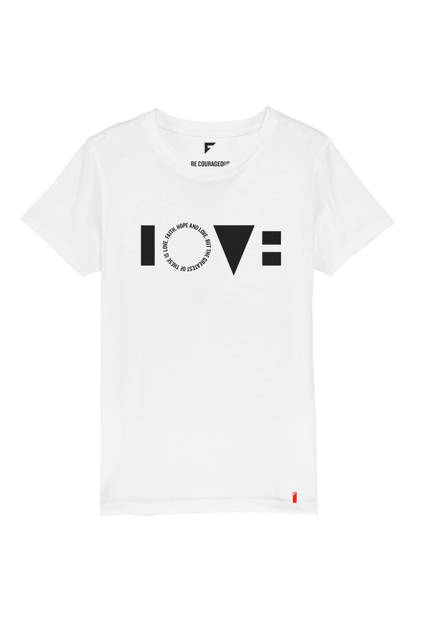 Love Unisex Crew Neck T-Shirt (White)