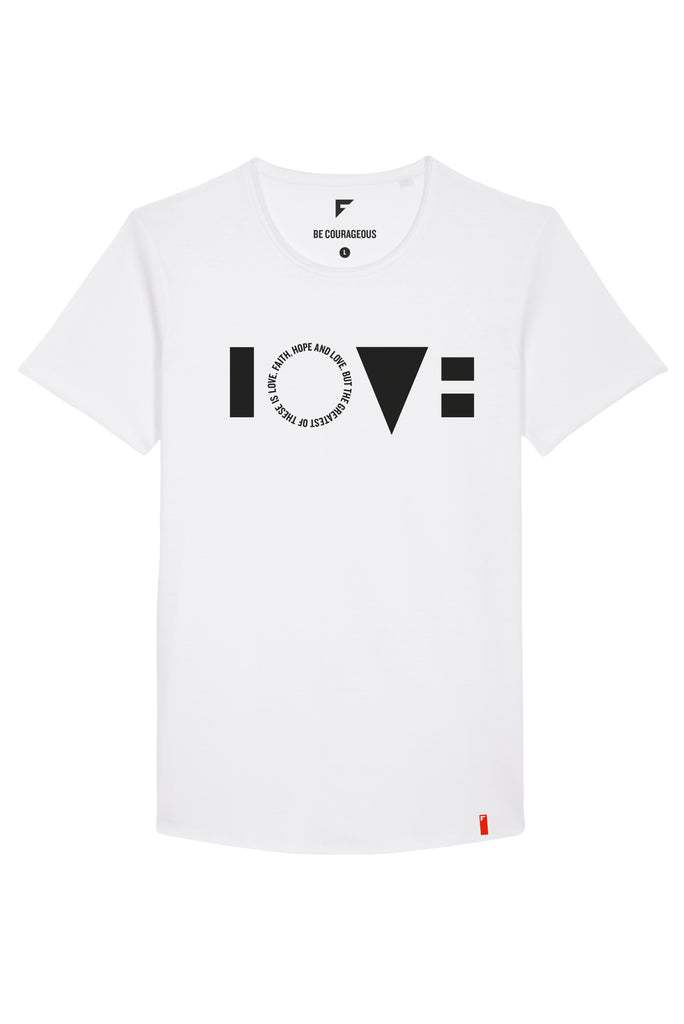 Love Skater Crew Neck T-Shirt (White)