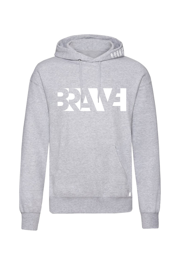 Brave Unisex Scripture Hoodie (Heather Grey)