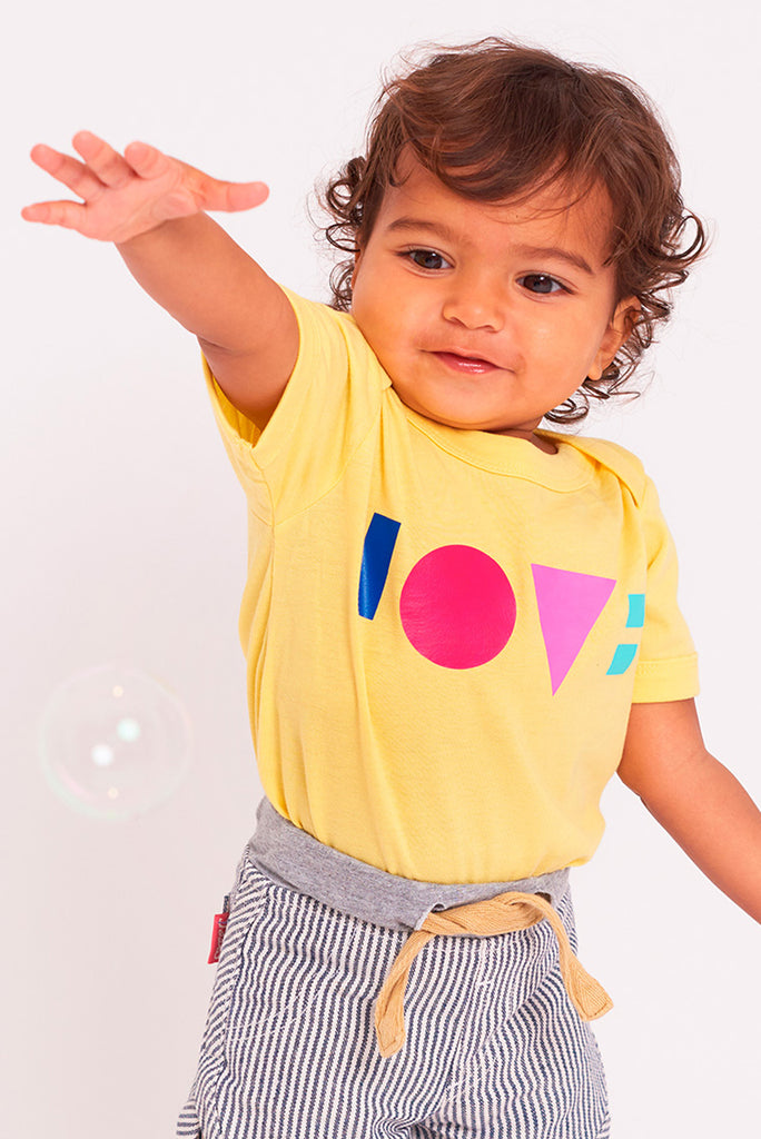 Love Sunflower Yellow Babygrow (Short Sleeve)