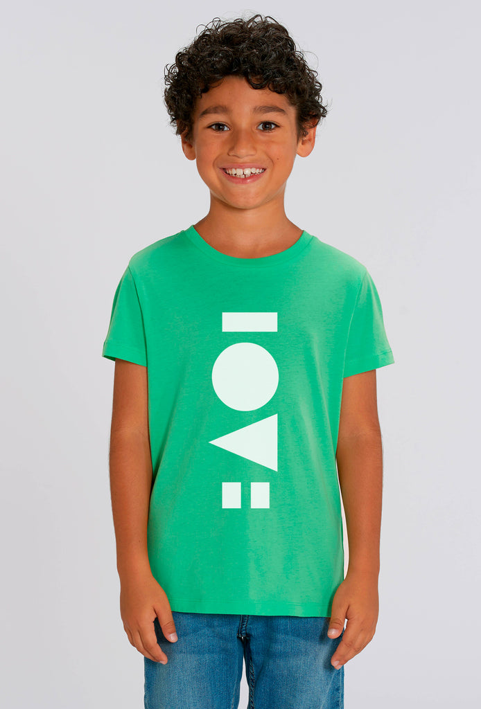 Love Chameleon Green Kids T-shirt