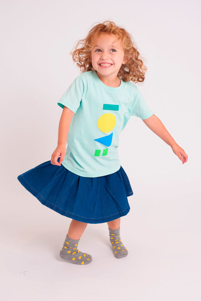 Love Caribbean Blue Kids T-shirt