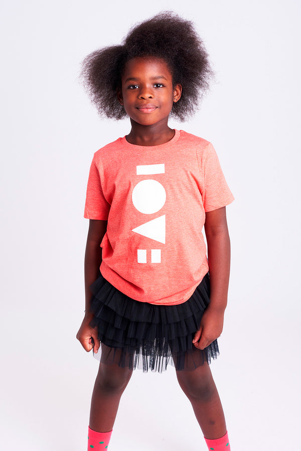 Love Heather Red Kids T-shirt