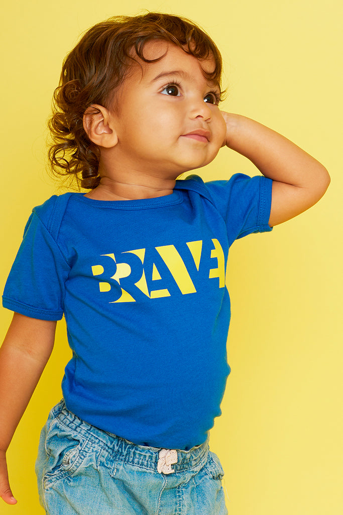 Brave Royal Blue Babygrow (Short Sleeve)