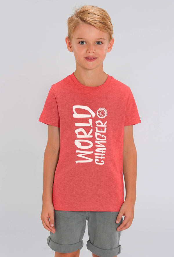 World Changer Red Heather Kids T-shirt