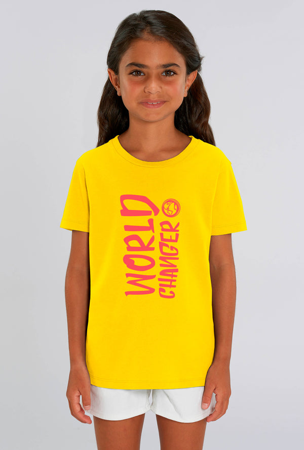 World Changer Sunflower Yellow Kids T-shirt
