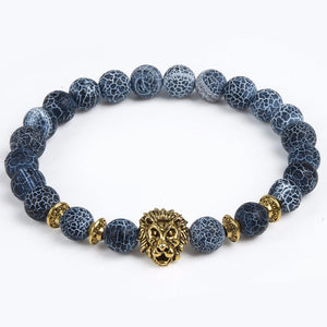 Buddha Beads With Lion Accent Charm Bracelets for Men/Women