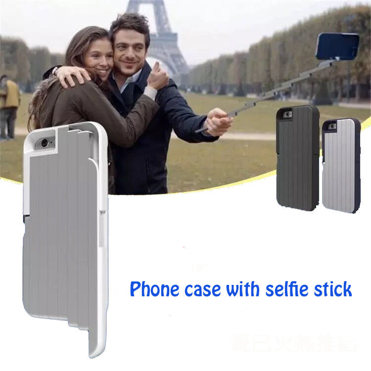 Selfie Stick Phone Case for iPhone