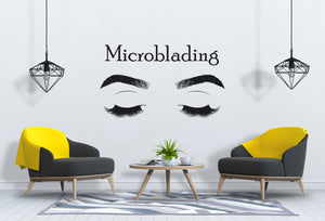 Eyebrows Wall Decal