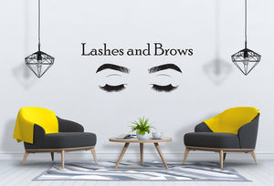 Eyelashes and Eyebrows Wall Decal