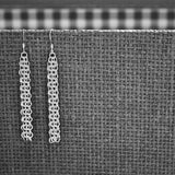 Sterling Silver 3 Row Chainmail Earrings