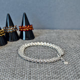 Sterling Silver 3 Row Chainmail Bracelet