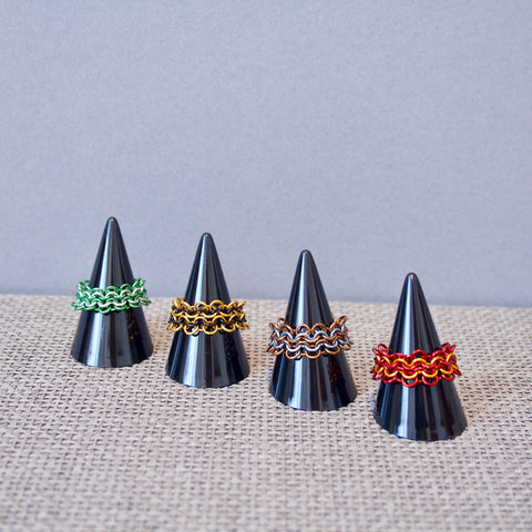 Harry Potter inspired chainmail rings
