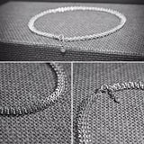 Sterling Silver 3 Row Chainmail Necklace