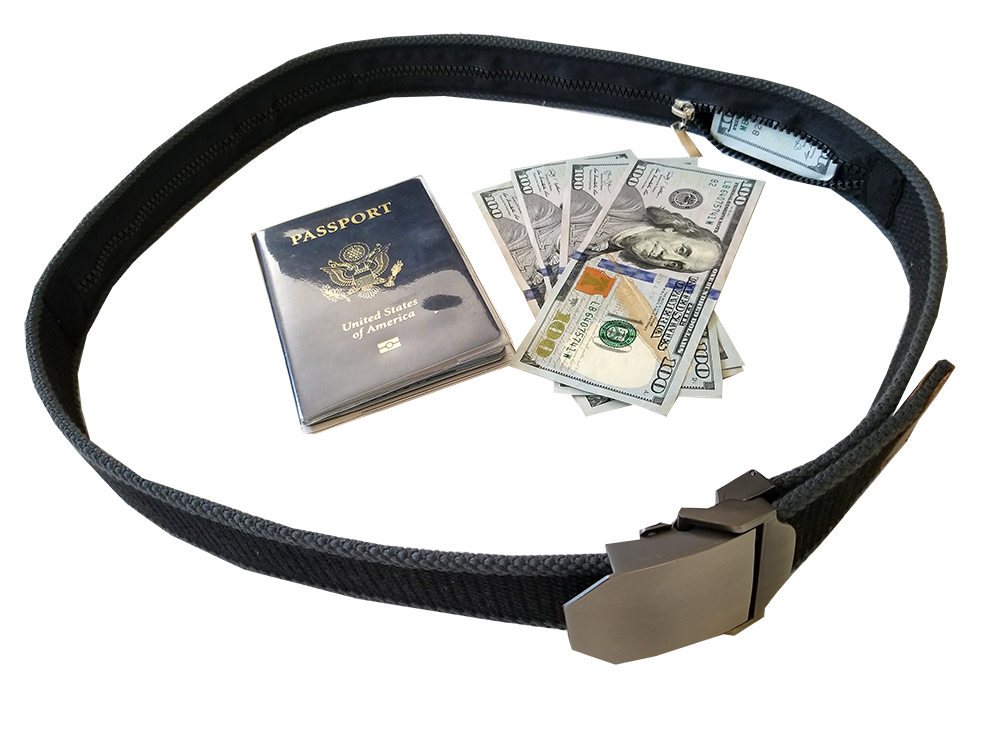 Travel Security Belt- Hidden Money Pouch