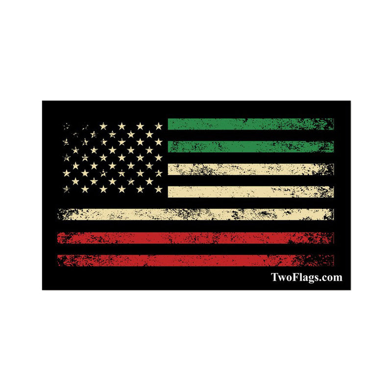 Italian American Flag Sticker