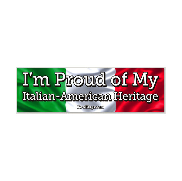 I'm Proud of My Heritage Bumper Sticker