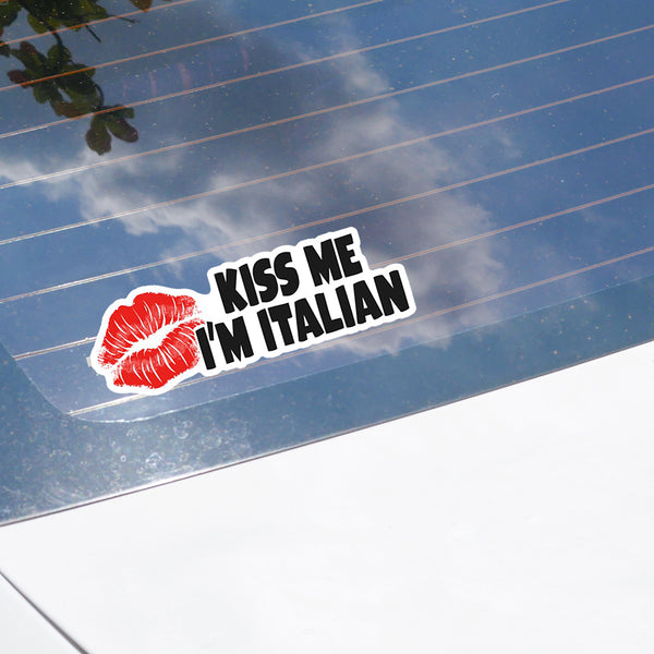 Kiss Me I'm Italian Sticker