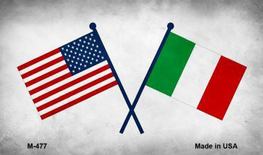 American and Italian Flag Magnet