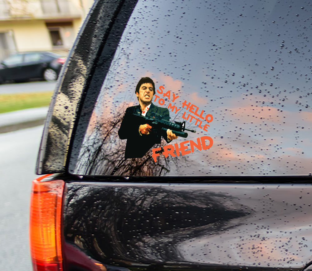 """Say Hello To My Little Friend"" Bumper Sticker"