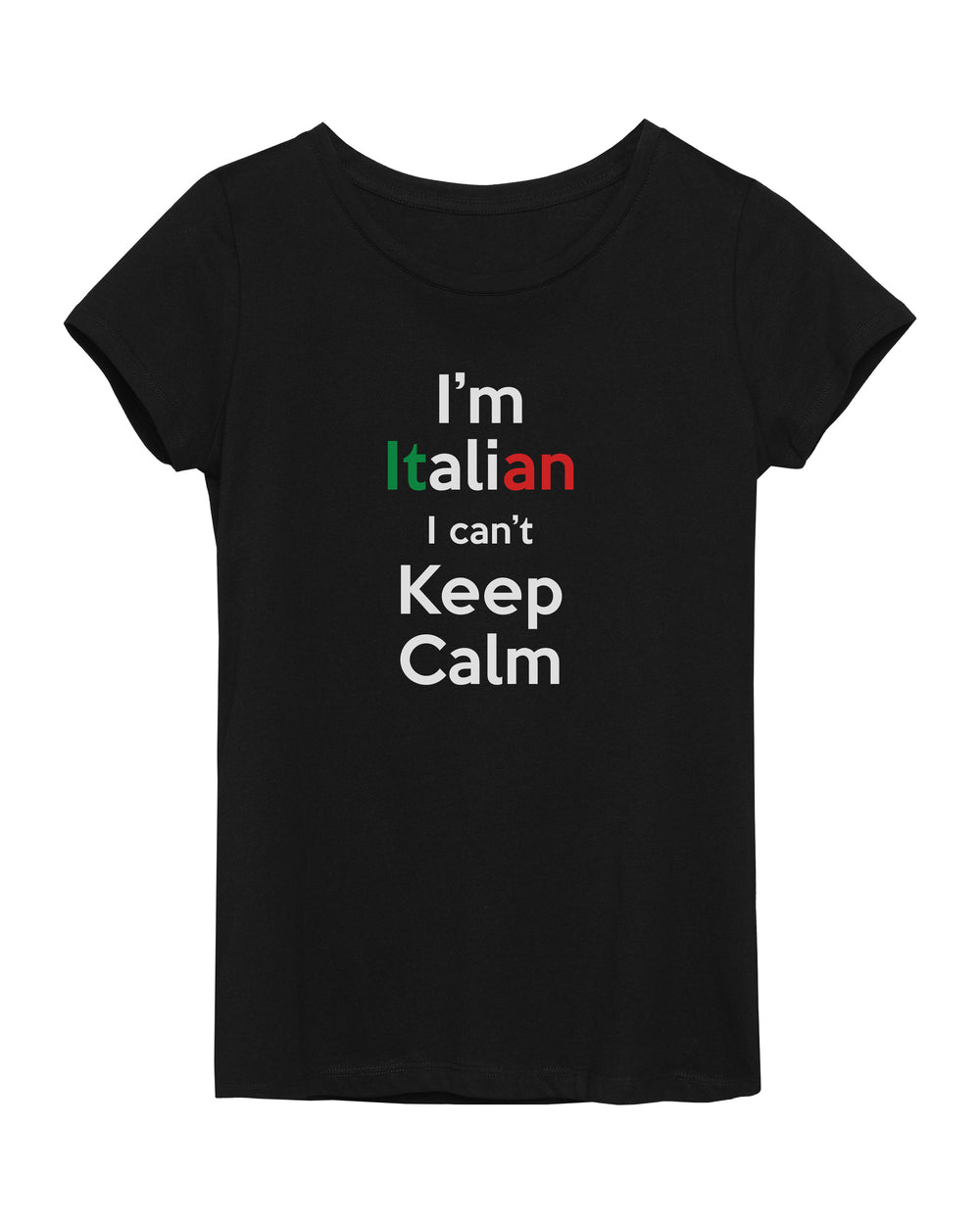 """I'm Italian I Can't Keep Calm"" T-Shirt"